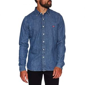 Levi's Men's Battery Denim Shirt, Blue, L