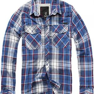 Brandit Checkshirt Longsleeve Blue-red-White